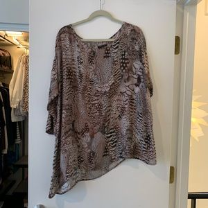 Feather print Rag & Bone Silk Tunic